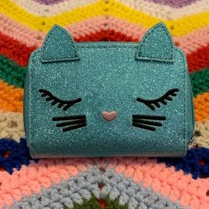 Handbags - 😻 Adorable blue glam kitten pouch!